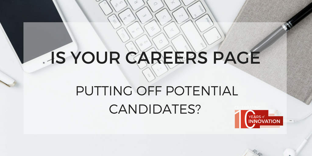 Candidates put off by careers page